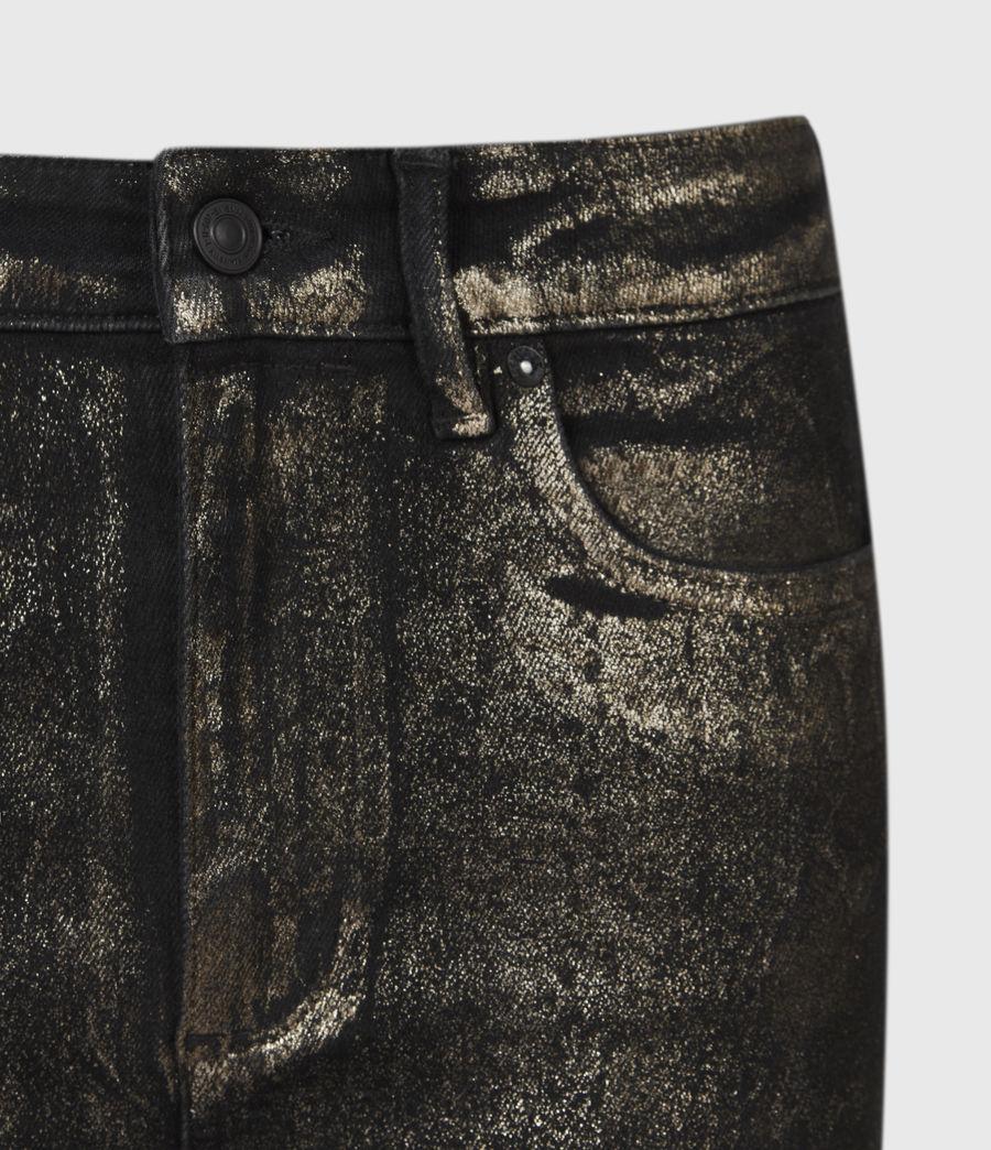 Damen Miller Mittelhoch-Tailliert Skinny Snake Jeans, Schwarz (black_gold) - Image 5