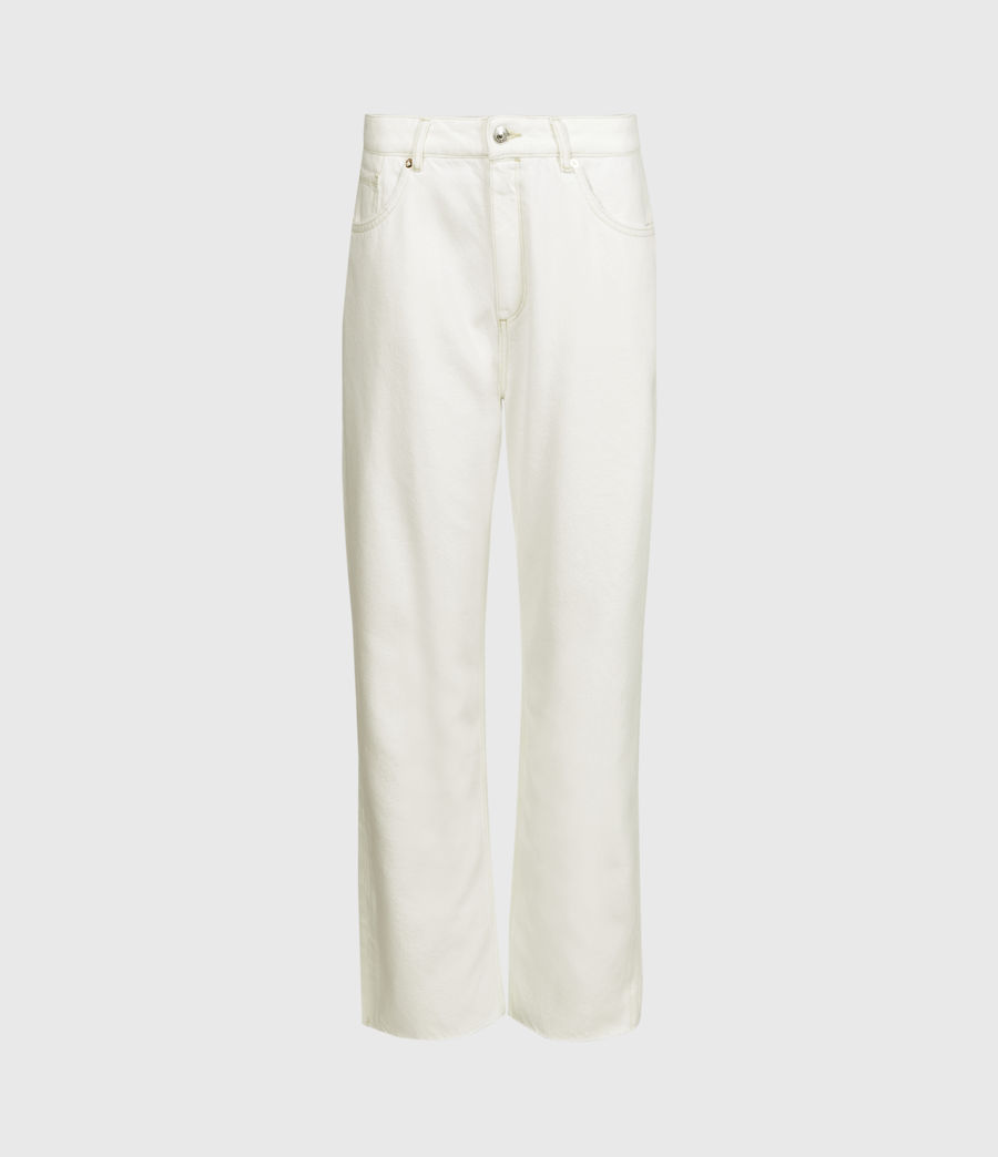 Womens Cali High-Rise Straight Jeans, Natural White (natural_white) - Image 2