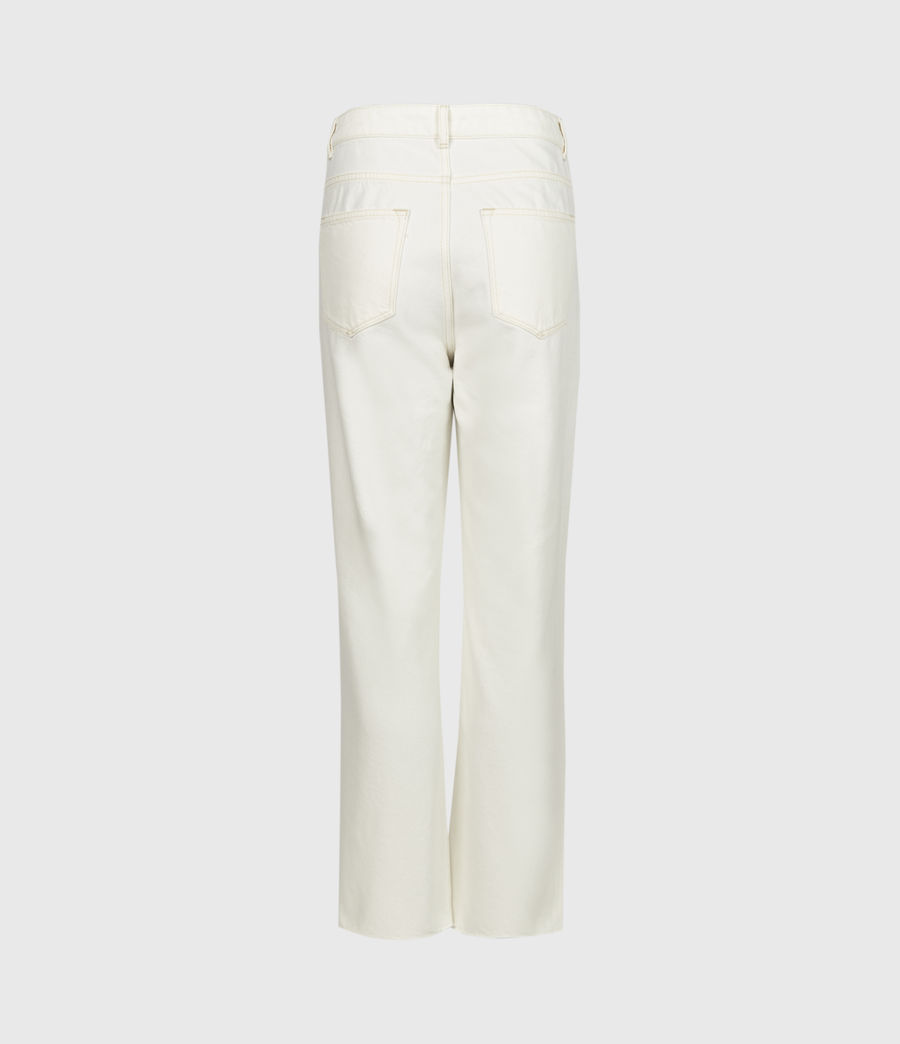 Women's Cali High-Rise Straight Jeans, Natural White (natural_white) - Image 3