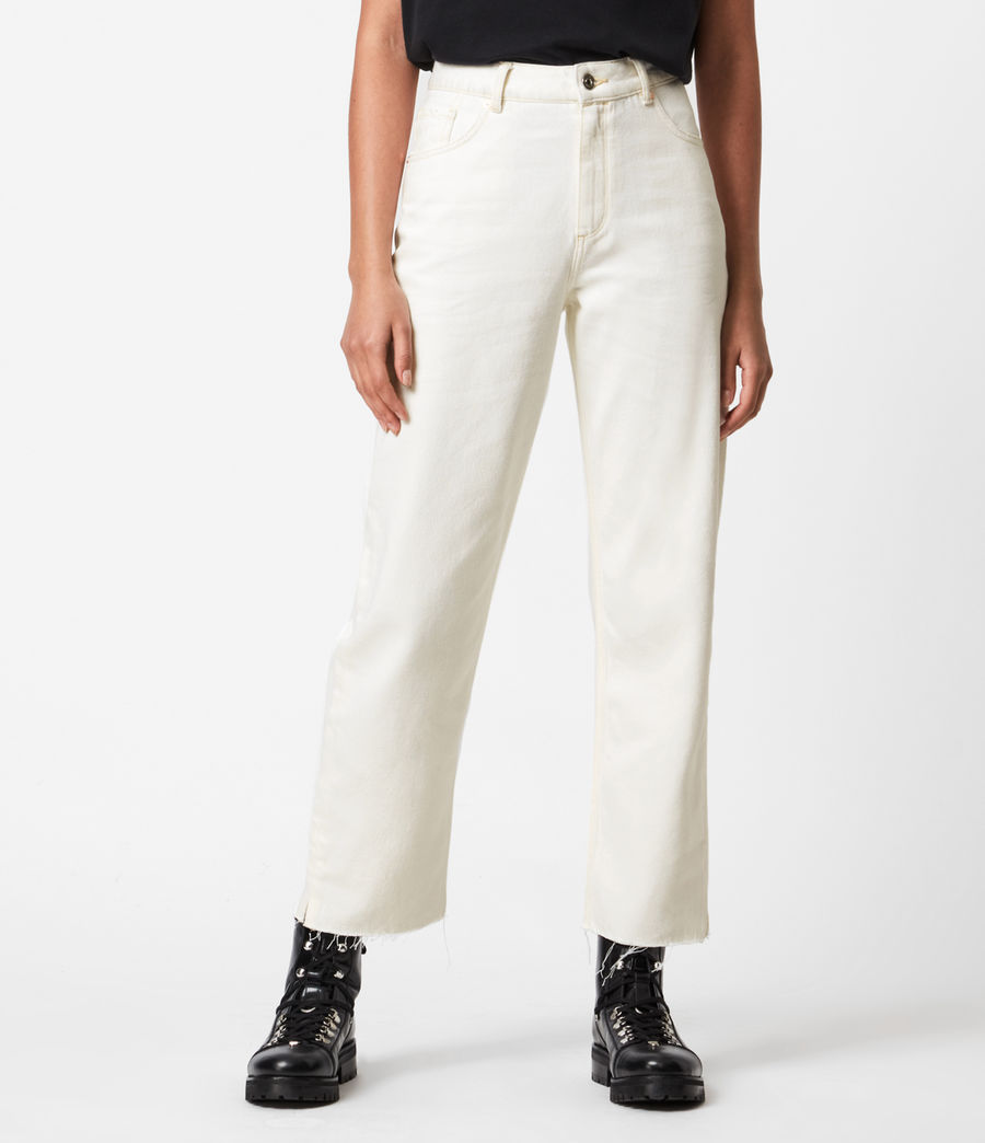 Women's Cali High-Rise Straight Jeans, Natural White (natural_white) - Image 4