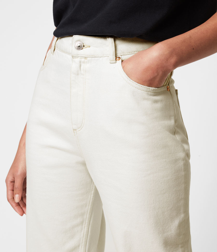 Women's Cali High-Rise Straight Jeans, Natural White (natural_white) - Image 5