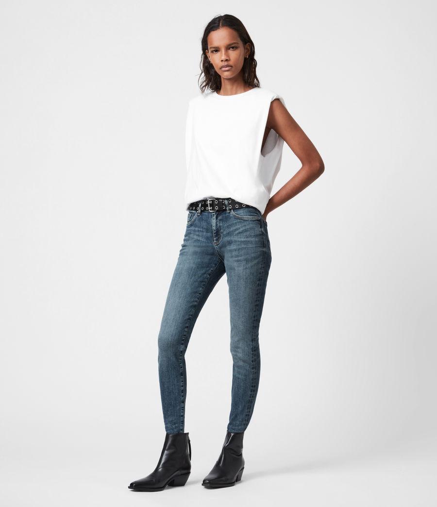 Damen Miller Mid-Rise Size Me Jeans, Hunter Blau (hunter_blue) - Image 1