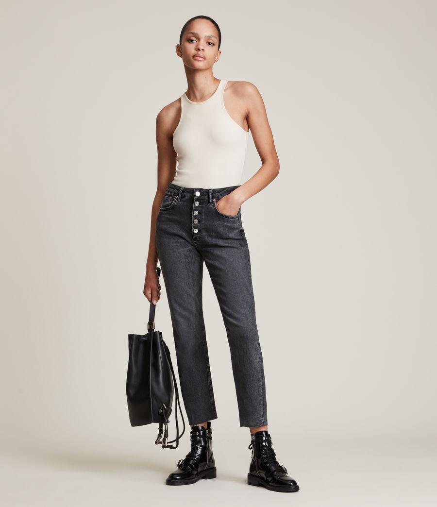Femmes Jules High-Rise Comfort Stretch Slim Jeans, Vintage Black (vintage_black) - Image 1
