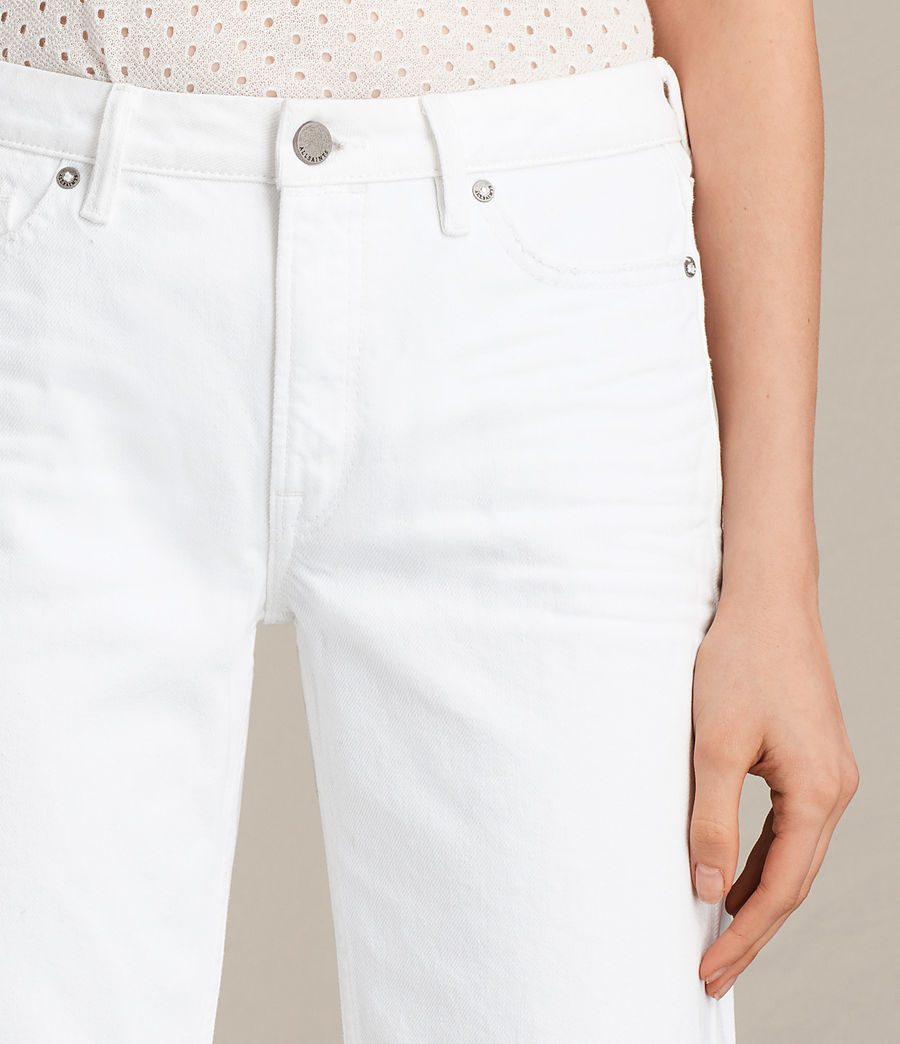 Women's Belle Cropped Flare Jeans (white) - Image 2