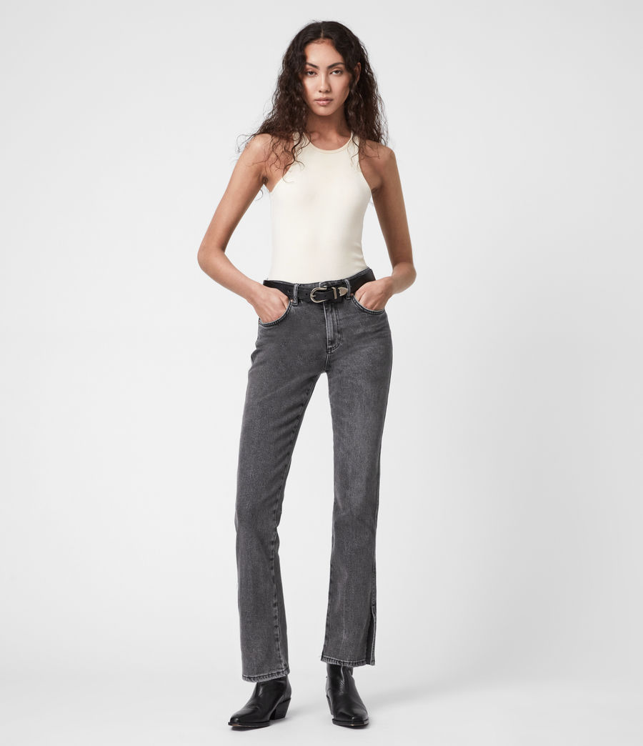 Womens Mia High-Rise Stretch Slim Jeans, Washed Black (washed_black) - Image 1