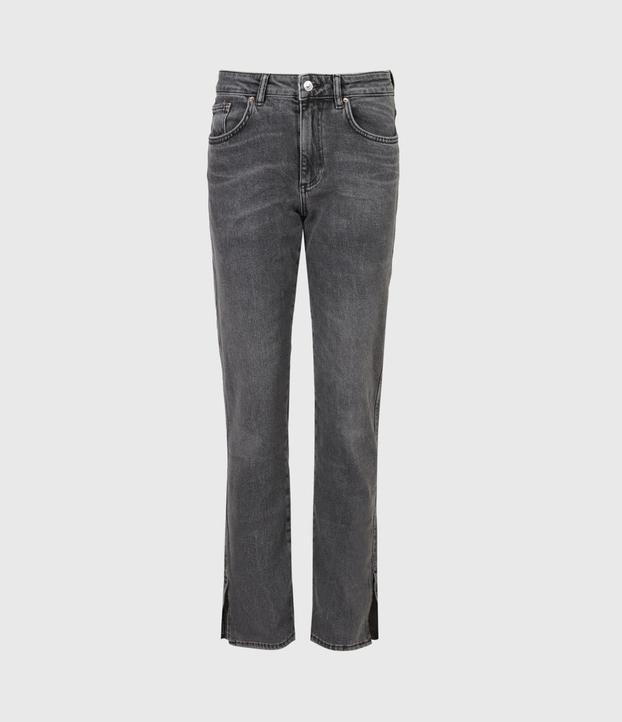 Womens Mia High-Rise Stretch Slim Jeans, Washed Black (washed_black) - Image 2