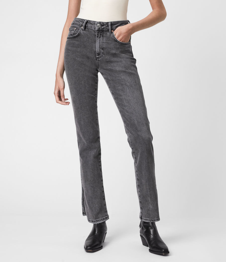 Womens Mia High-Rise Stretch Slim Jeans, Washed Black (washed_black) - Image 4