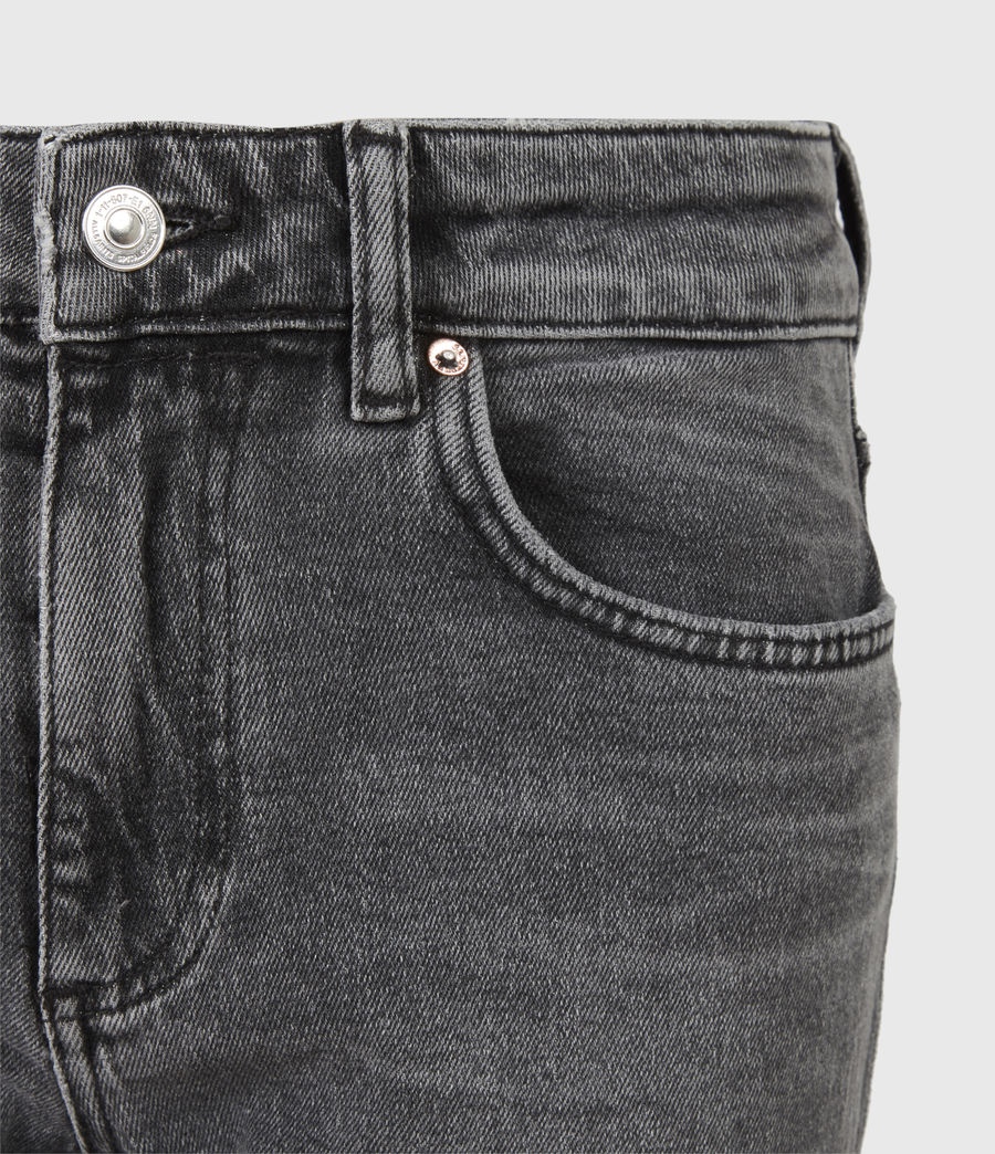 Womens Mia High-Rise Stretch Slim Jeans, Washed Black (washed_black) - Image 5