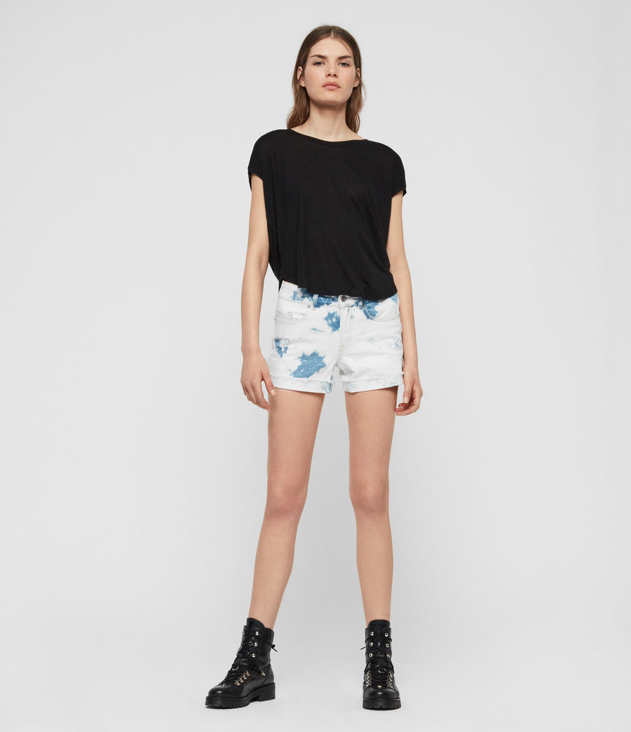 Womens Pam Low-Rise Denim Shorts (punk_bleach_blue) - Image 3