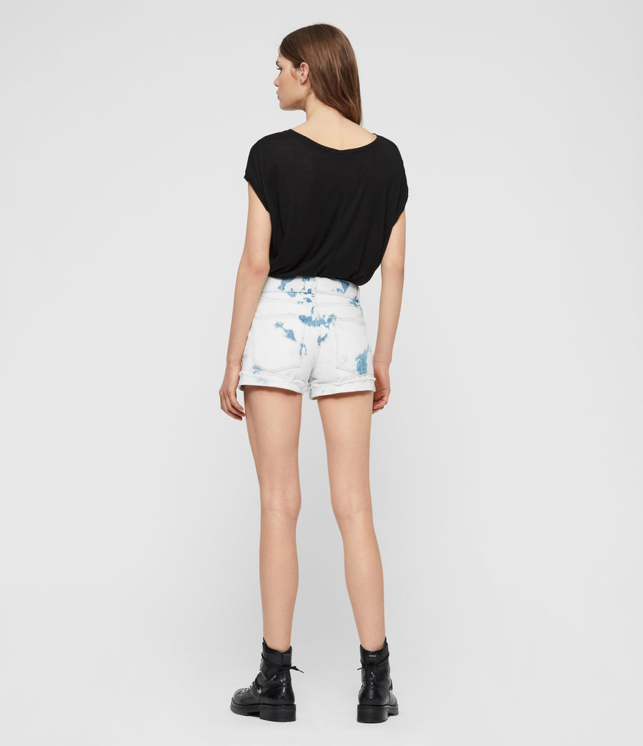 Womens Pam Low-Rise Denim Shorts (punk_bleach_blue) - Image 6