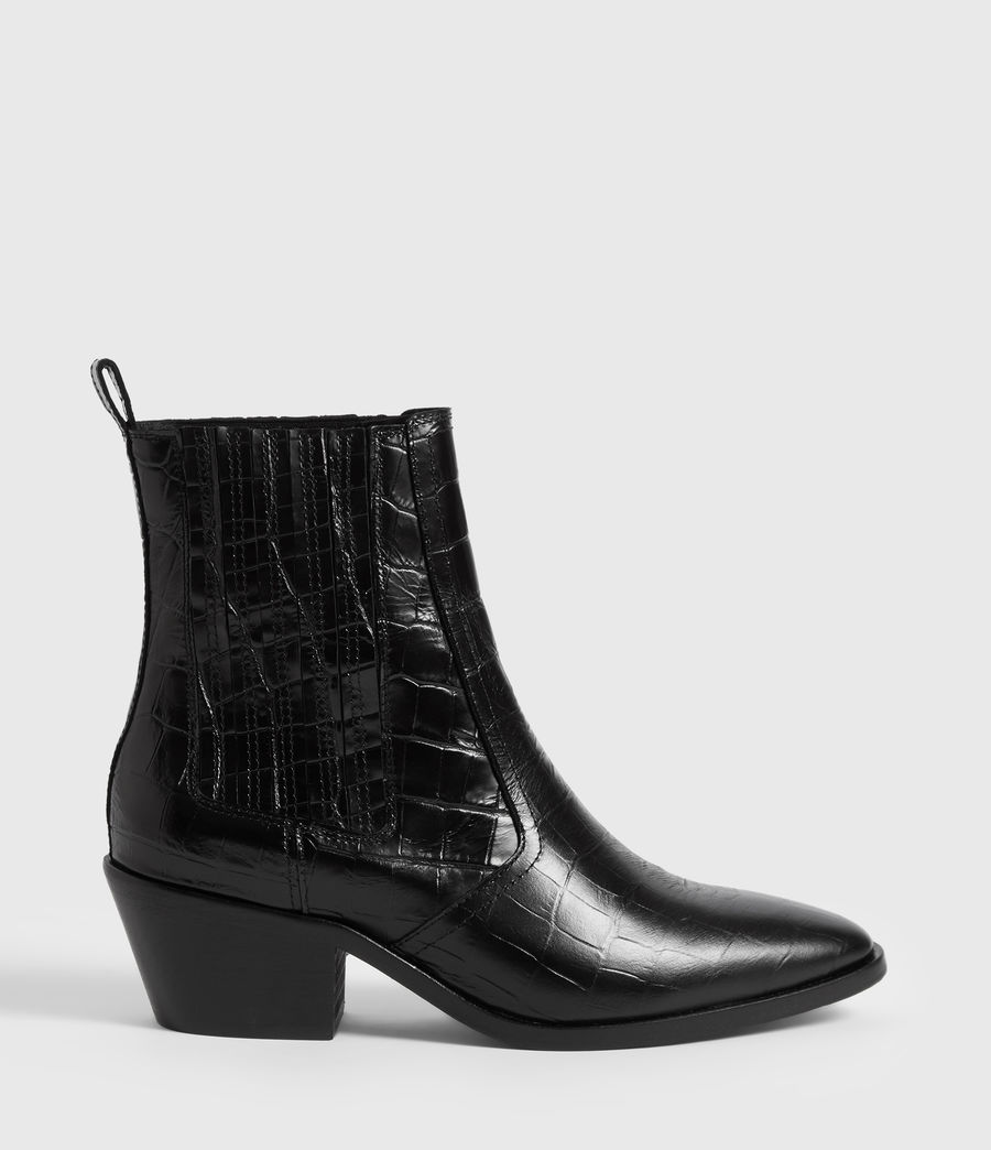 Women's Miriam Crocodile Boot (black_croc) - Image 1