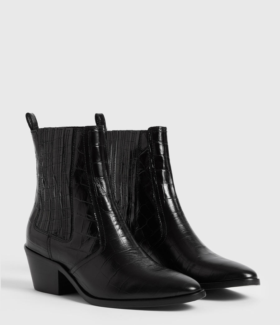 Women's Miriam Crocodile Boot (black_croc) - Image 3