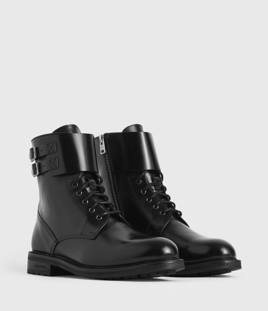 Women's Brigade Leather Boots (black) - Image 3