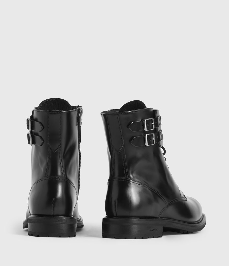 Womens Brigade Leather Boots (black) - Image 5