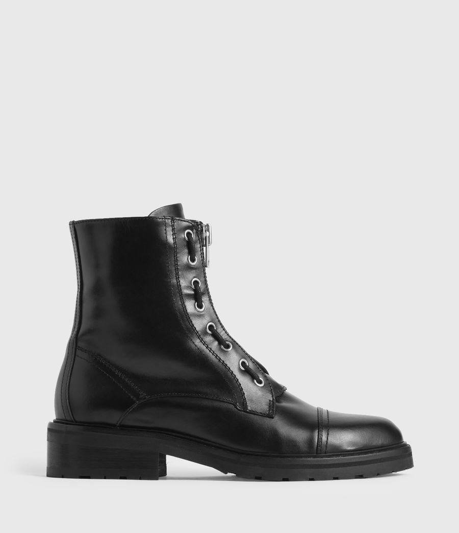 Women's Ariel Leather Boots (black) - Image 1