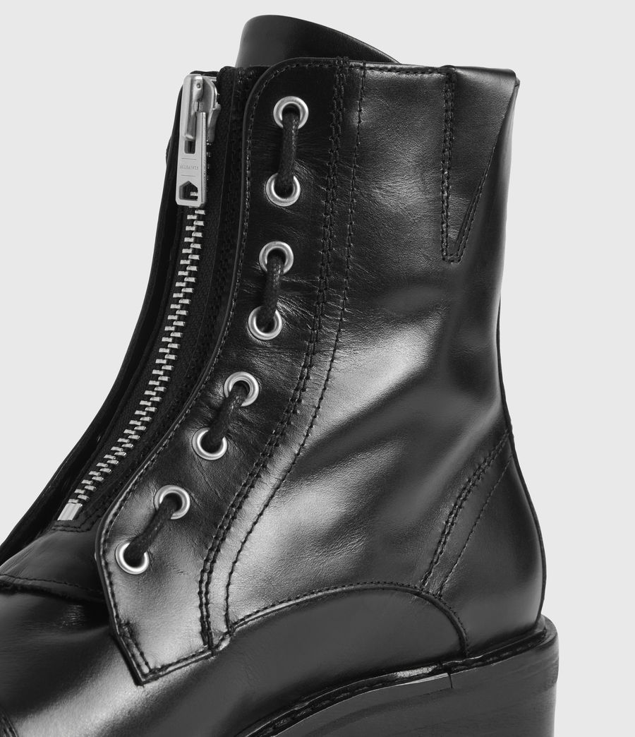 Women's Ariel Leather Boots (black) - Image 2