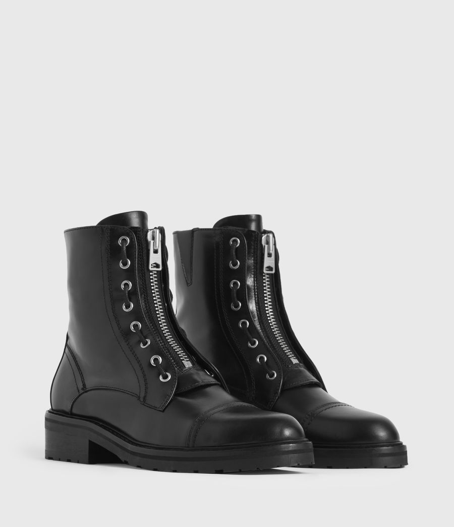 Women's Ariel Leather Boots (black) - Image 3