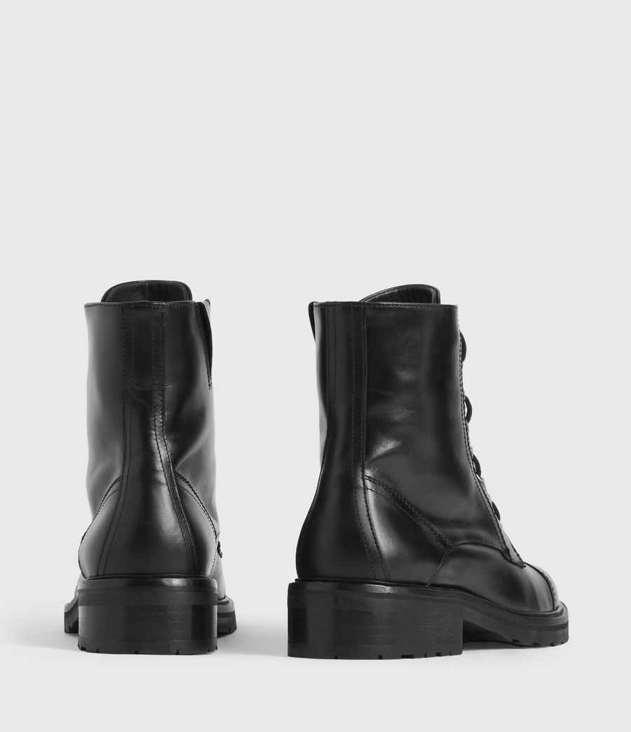 Women's Ariel Leather Boots (black) - Image 5