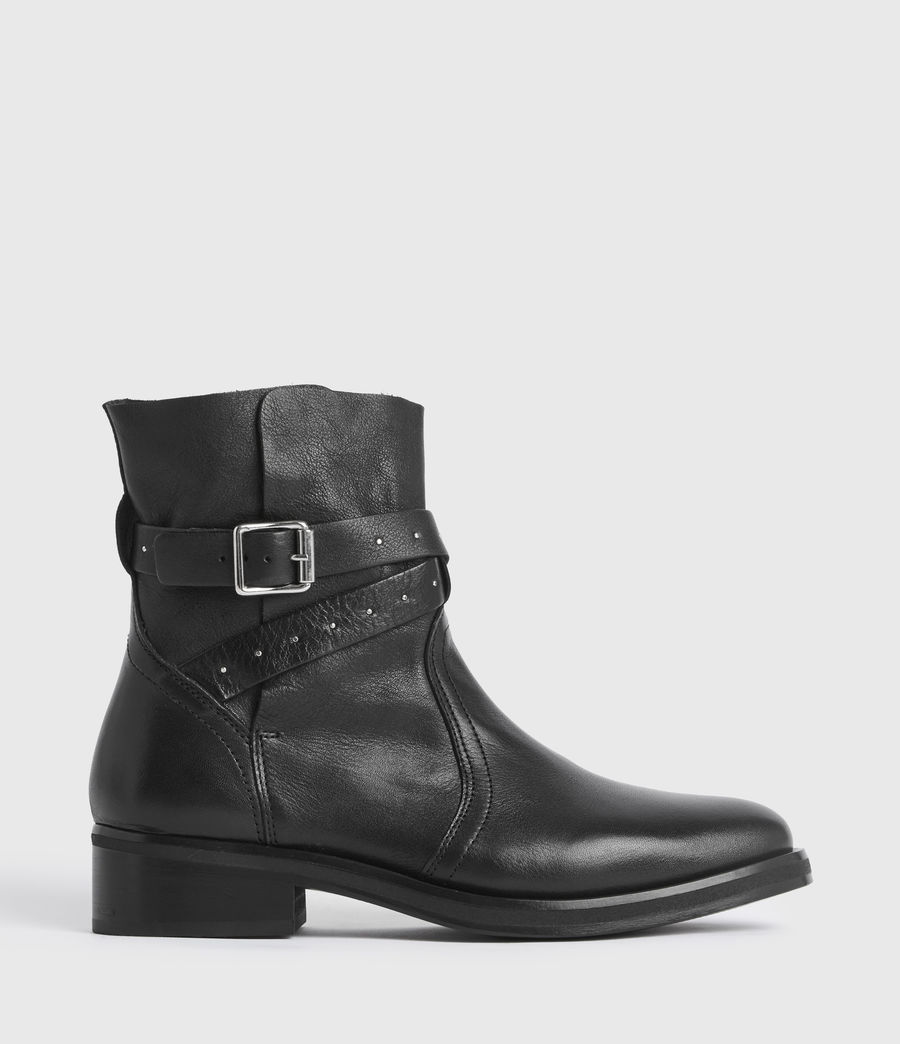 Women's Carla Leather Boots (black) - Image 1