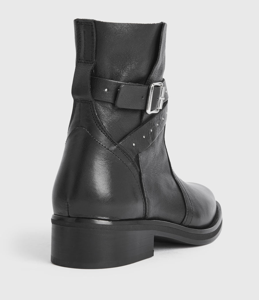 Women's Carla Leather Boots (black) - Image 2