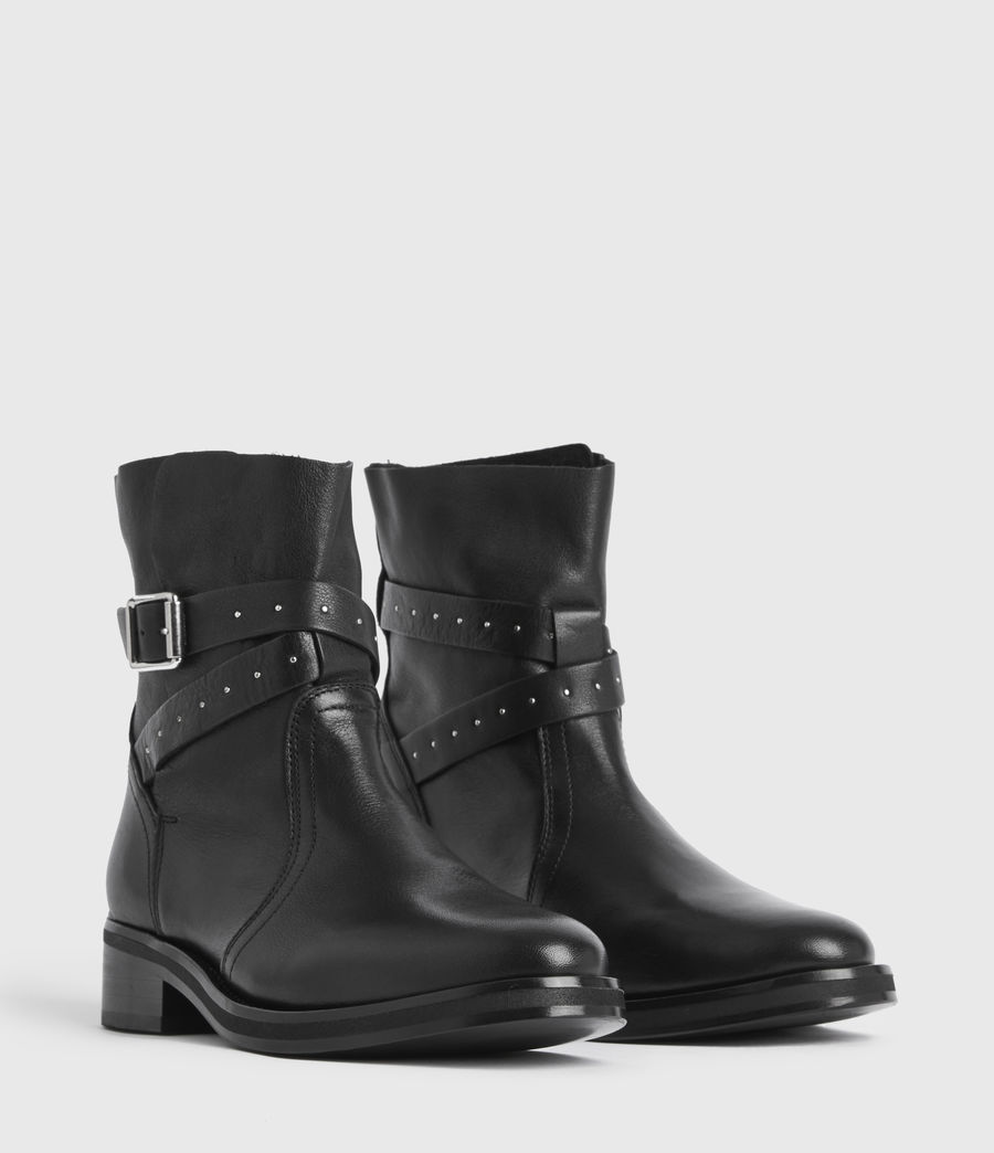 Women's Carla Leather Boots (black) - Image 3