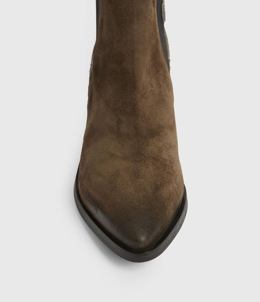 Womens Sara Suede Boots (dark_khaki) - Image 2