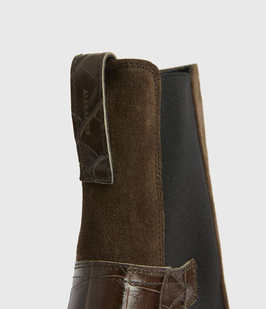Womens Sara Suede Boots (dark_khaki) - Image 4