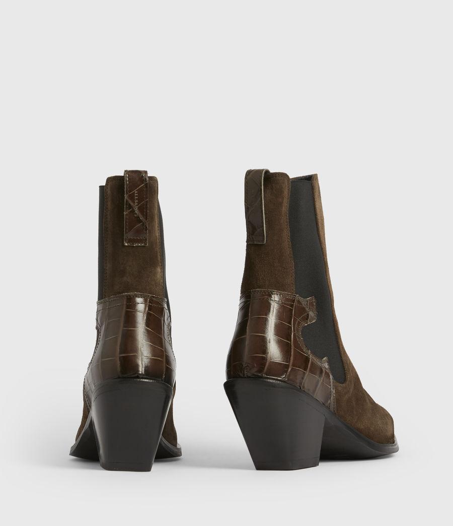 Womens Sara Suede Boots (dark_khaki) - Image 6