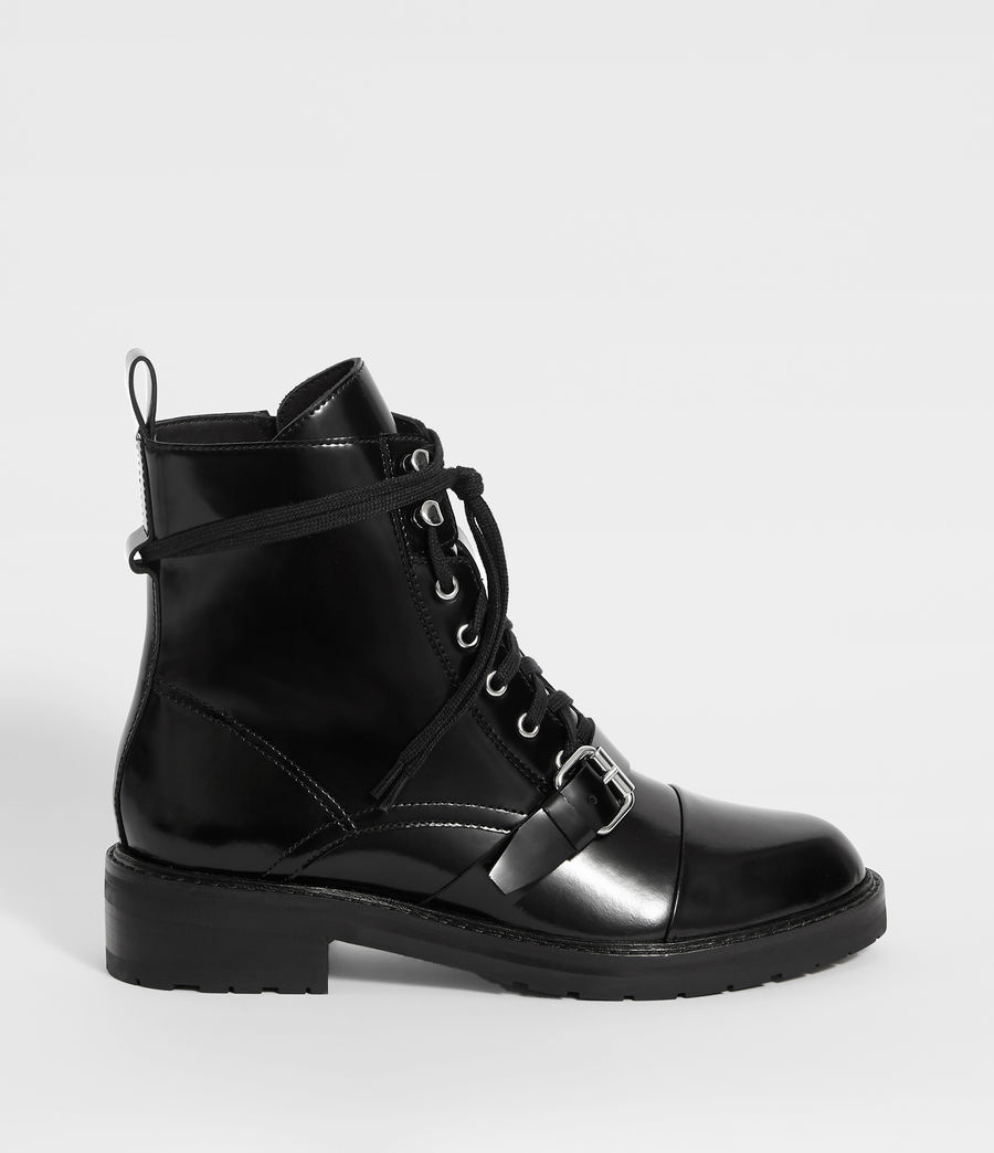 Womens Donita Leather Ankle Boots (black) - Image 1