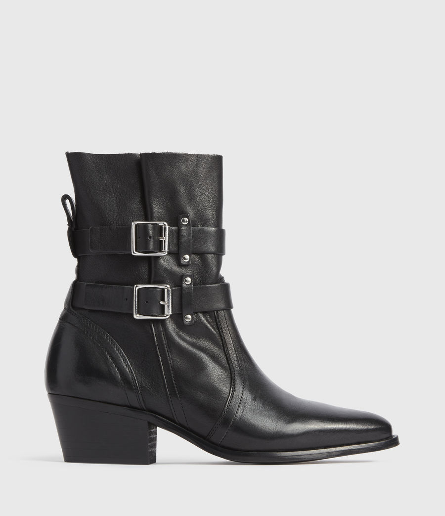 Mujer Harriet Leather Boots (black) - Image 1
