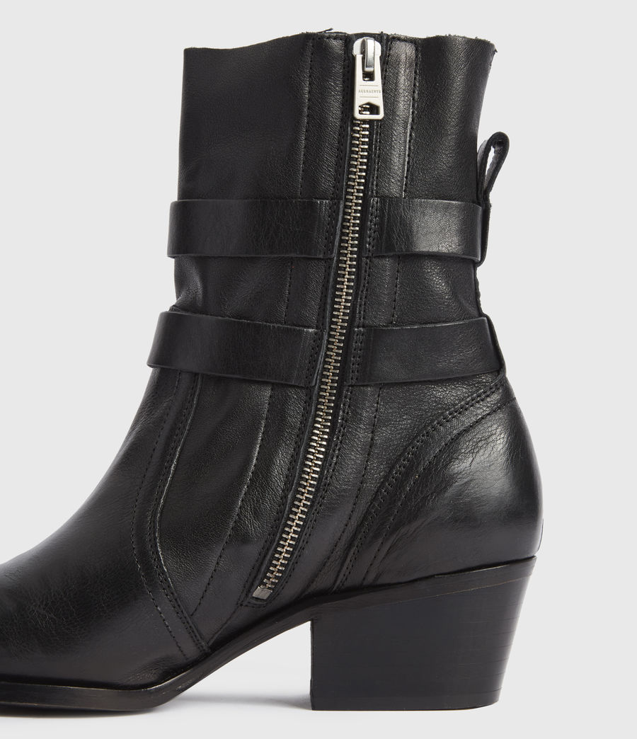 Mujer Harriet Leather Boots (black) - Image 2