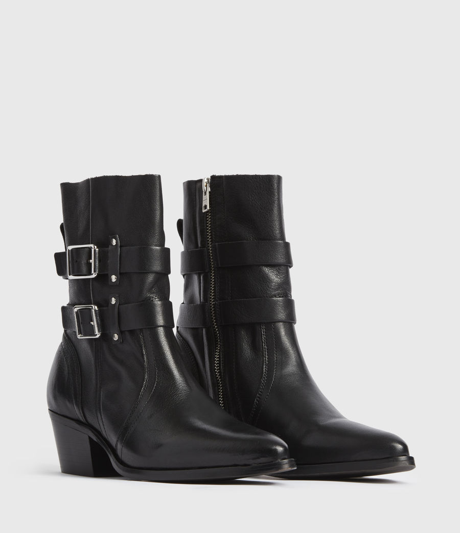 Mujer Harriet Leather Boots (black) - Image 3