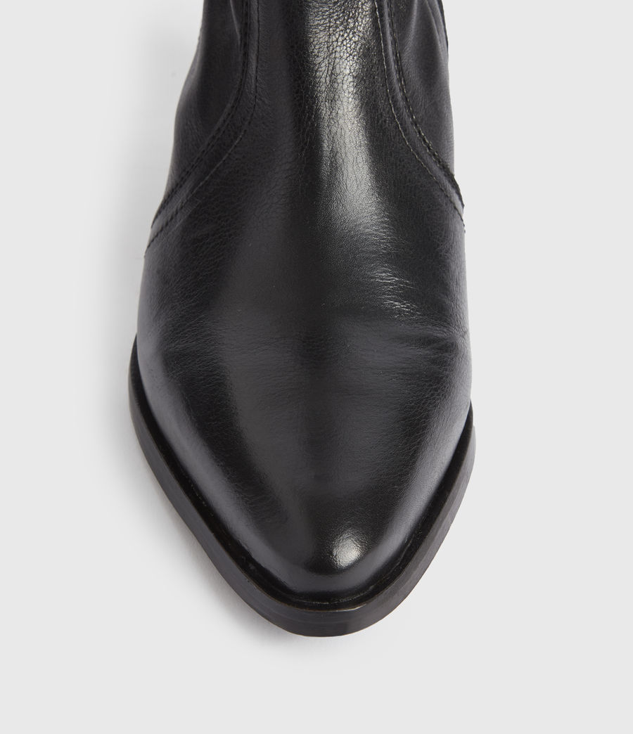 Mujer Harriet Leather Boots (black) - Image 4