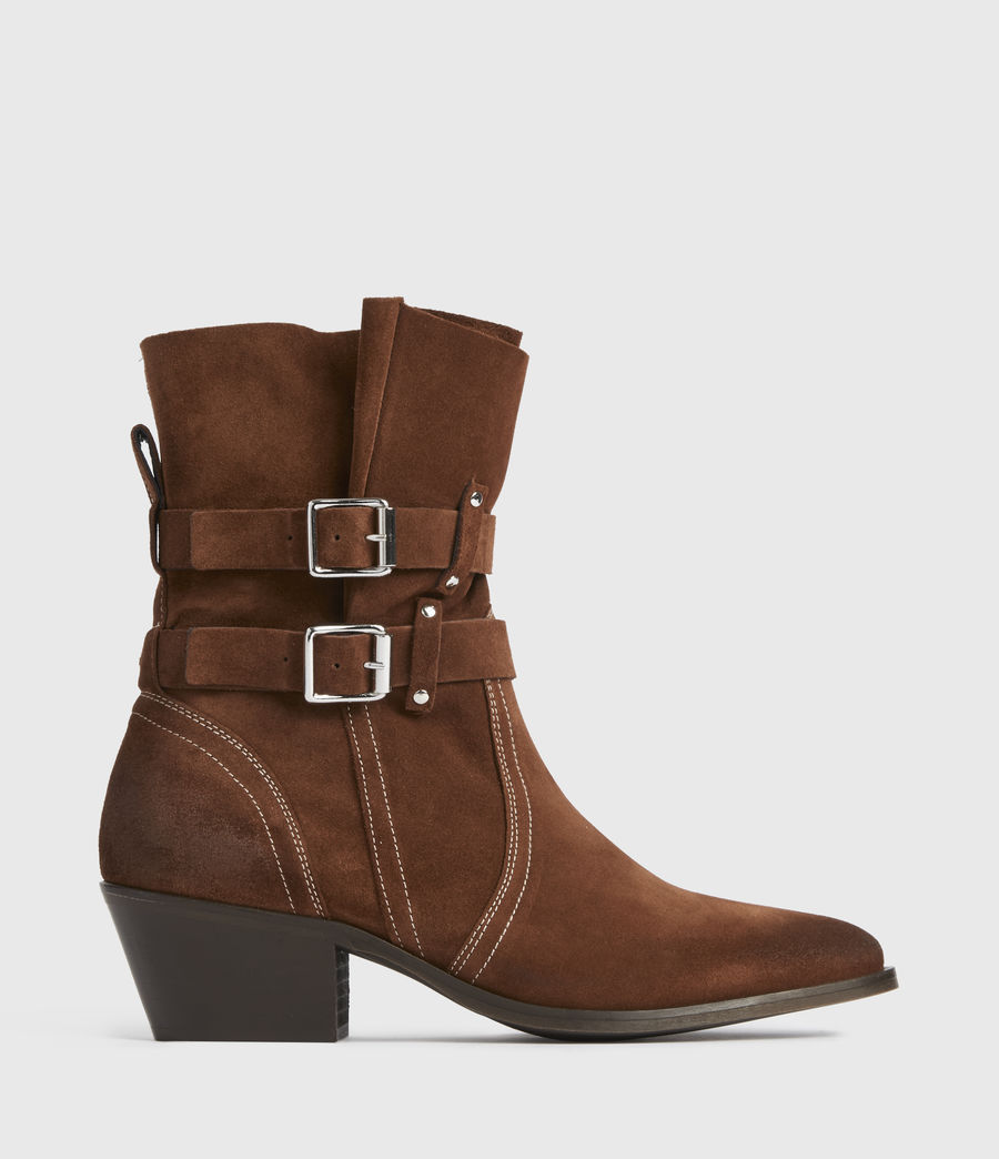 Women's Harriet Suede Boots (rust) - Image 1