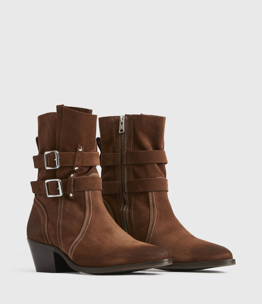 Women's Harriet Suede Boots (rust) - Image 2