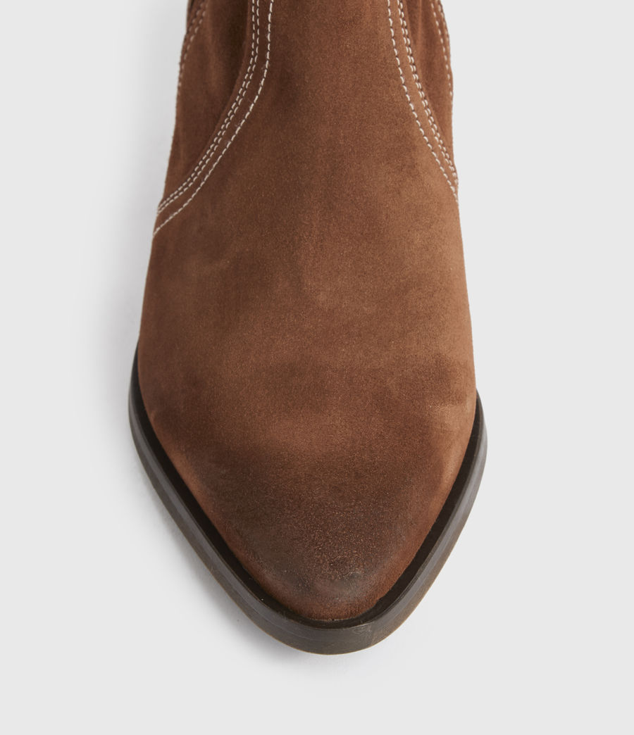 Women's Harriet Suede Boots (rust) - Image 3