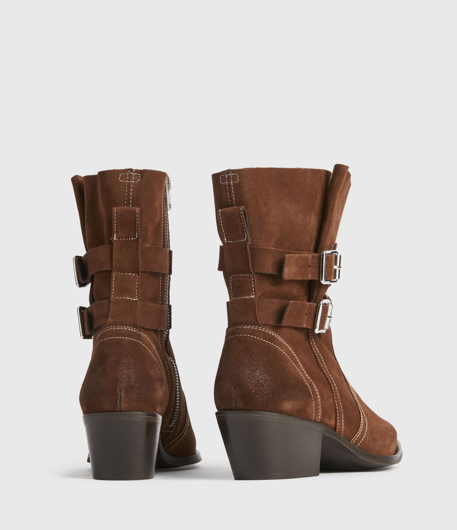 Women's Harriet Suede Boots (rust) - Image 4