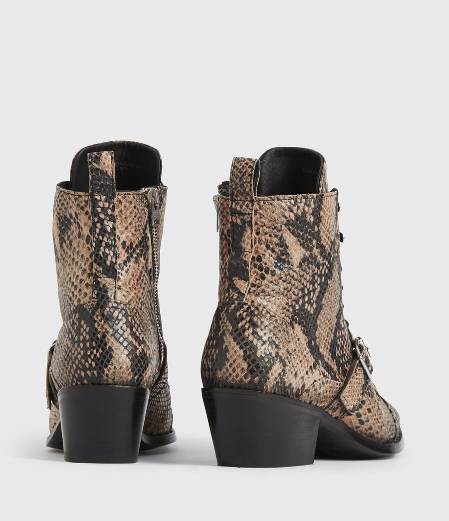 Mujer Katy Leather Boots (taupe) - Image 5