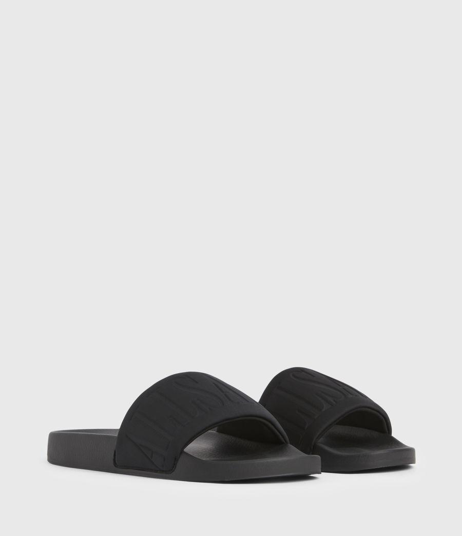 Damen Signet Sliders (black) - Image 4