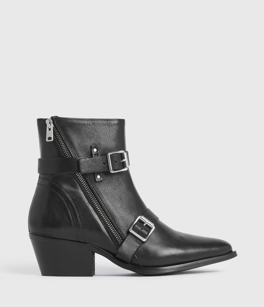 Women's Lior Leather Boots (black) - Image 1