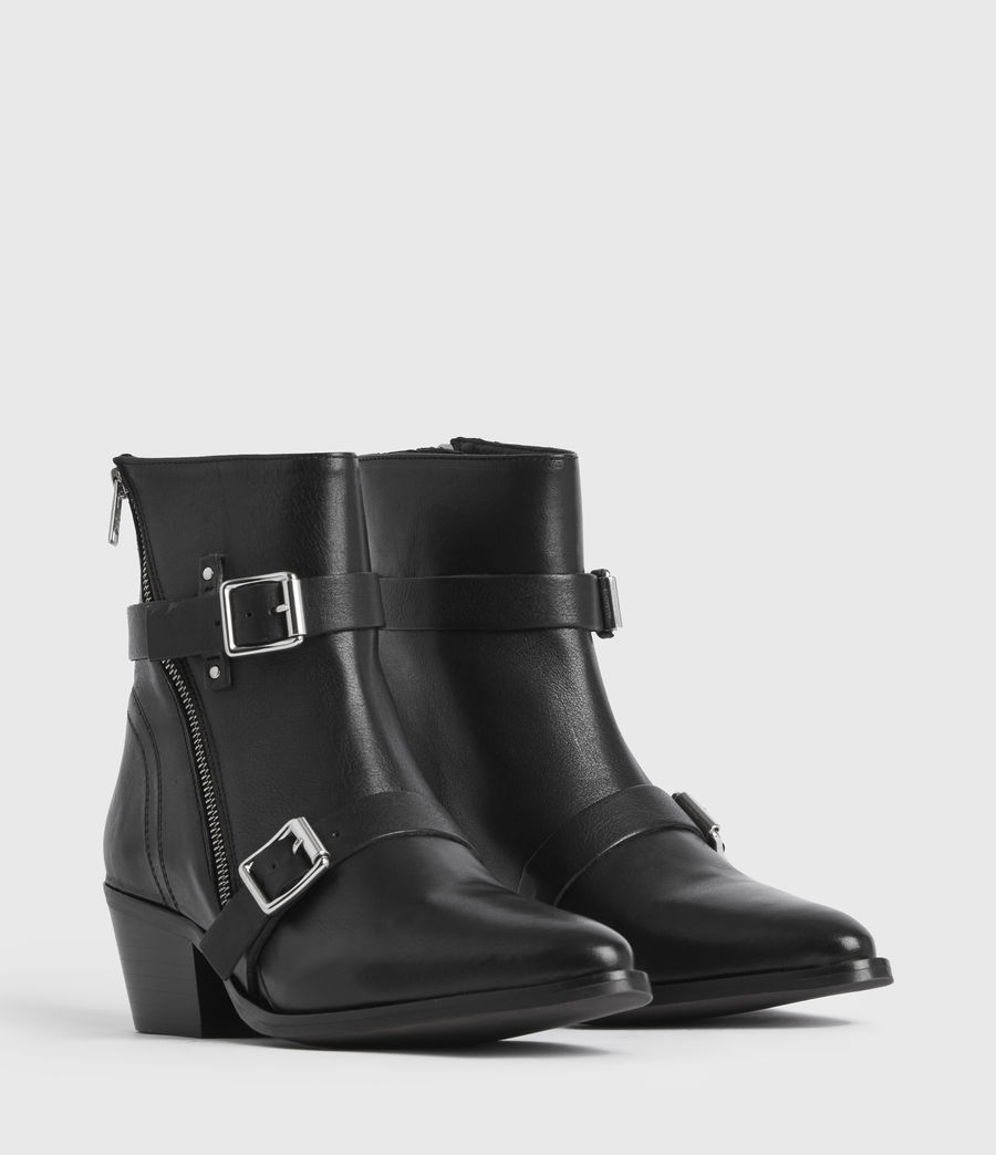 Women's Lior Leather Boots (black) - Image 3