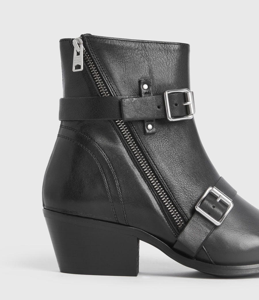 Women's Lior Leather Boots (black) - Image 4