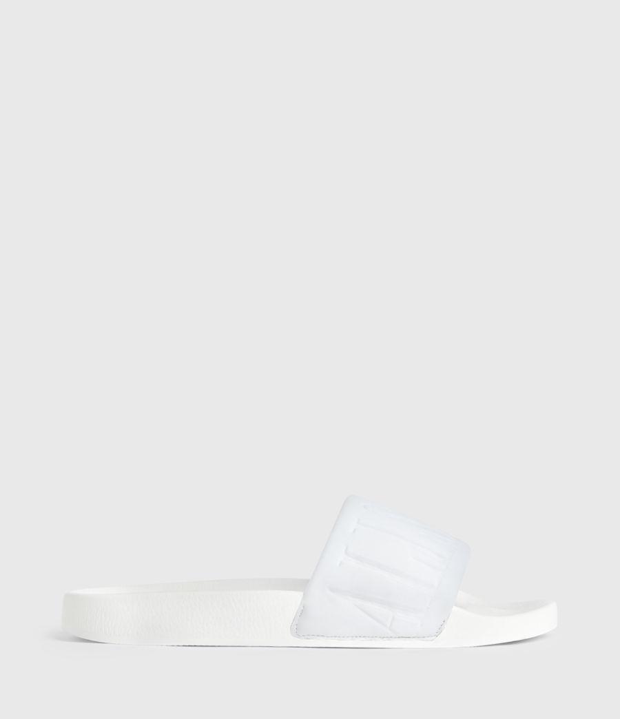 Womens Signet Neoprene Slides (white) - Image 1