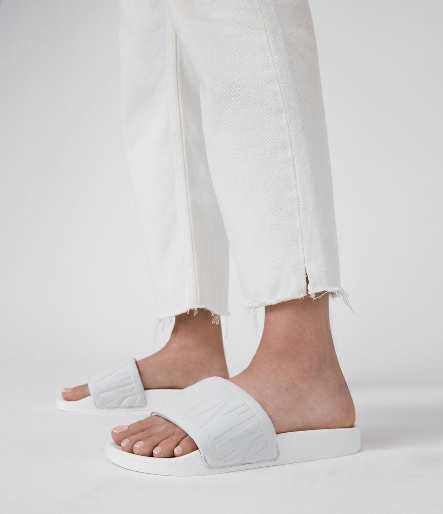 Womens Signet Neoprene Slides (white) - Image 2