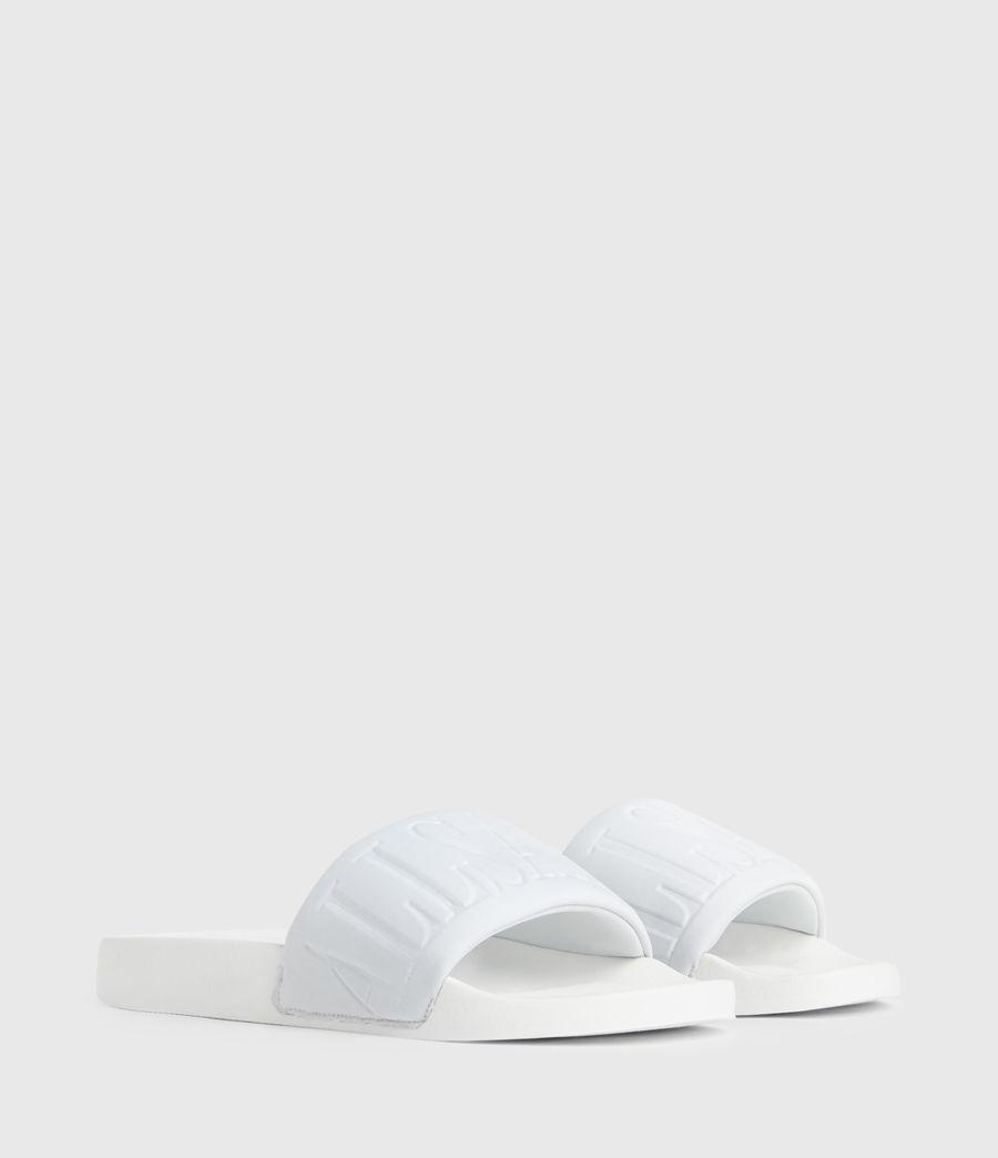 Womens Signet Neoprene Slides (white) - Image 4