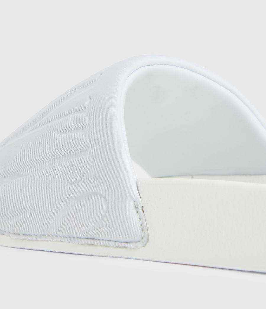 Womens Signet Neoprene Slides (white) - Image 5