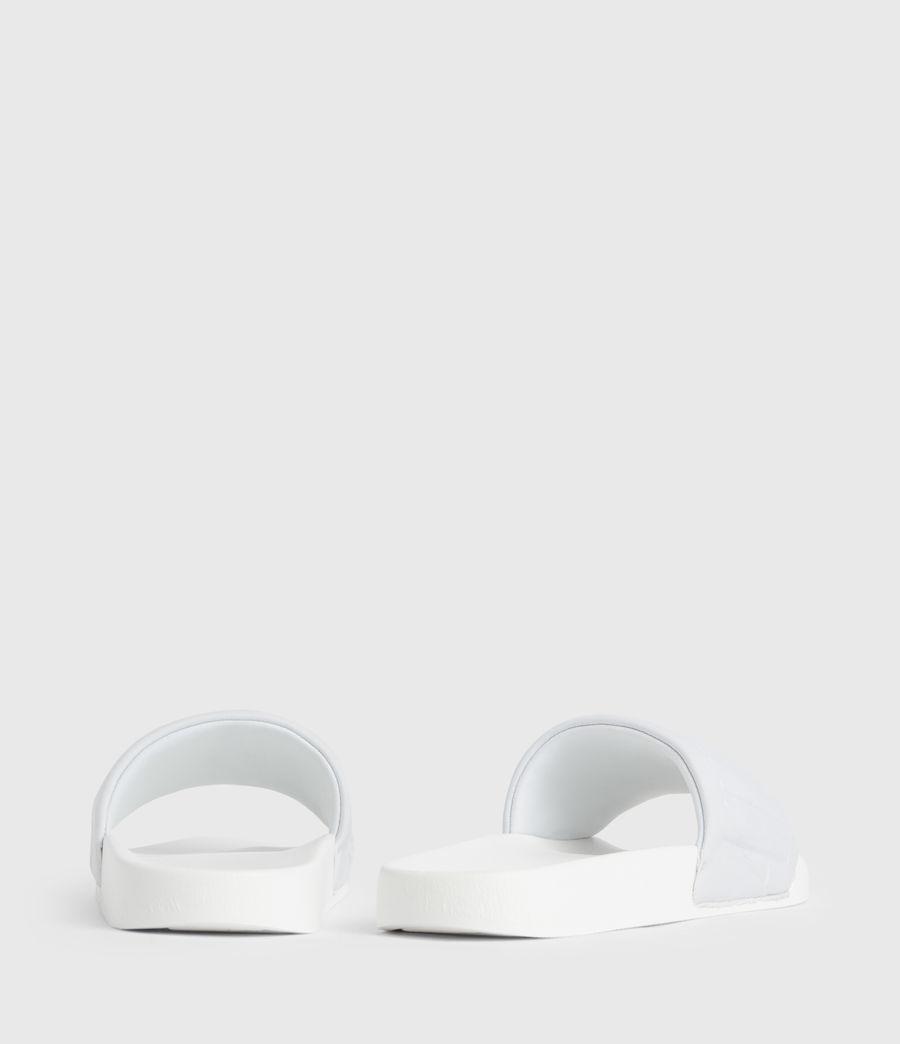 Womens Signet Neoprene Slides (white) - Image 6