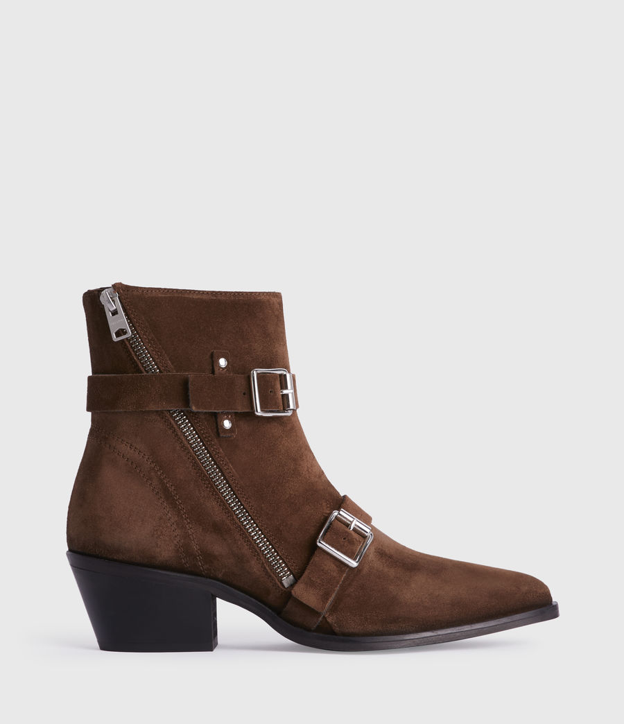 Women's Lior Suede Boots (tan) - Image 1