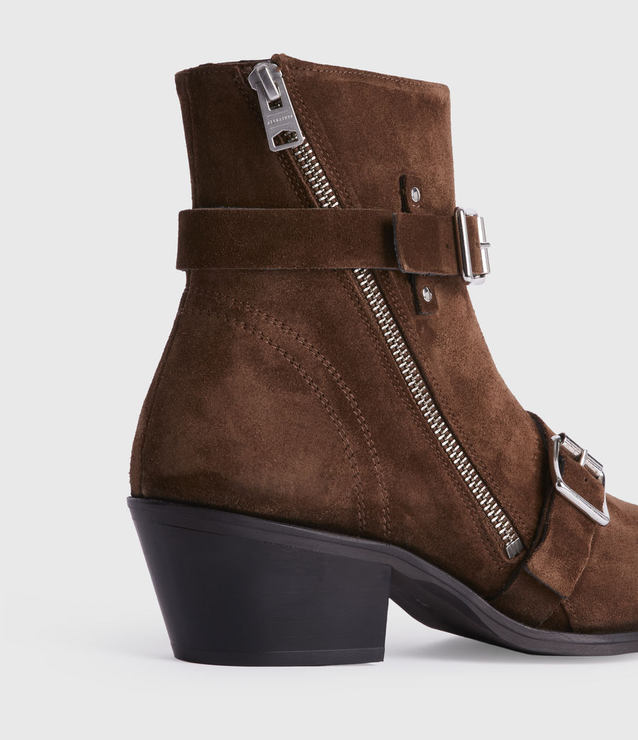 Womens Lior Suede Boots (tan) - Image 2