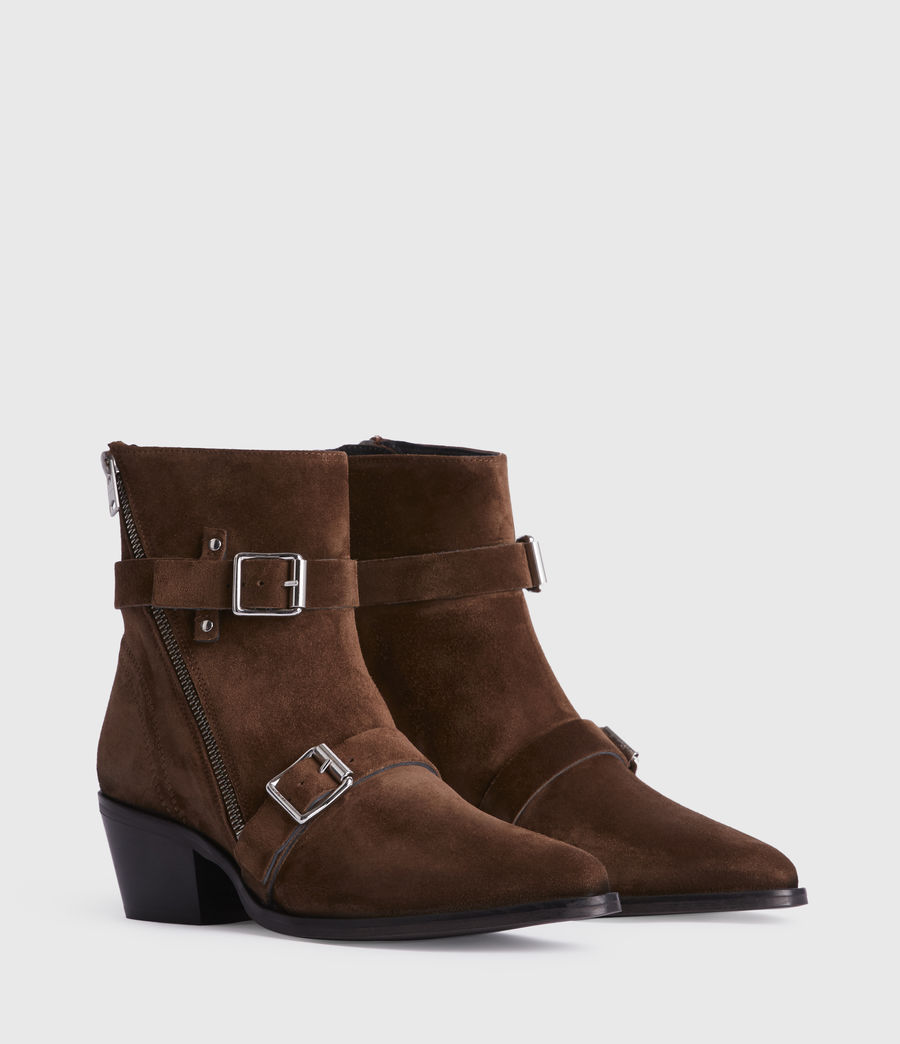 Womens Lior Suede Boots (tan) - Image 3